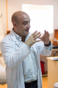 Alfonso Carlos Copoví en el curso de dermoestética